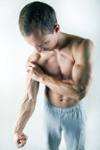 Arm pain — Stock Photo