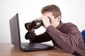 Searching like a boss — Stock Photo
