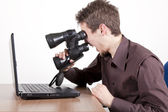 Funny search — Stock Photo