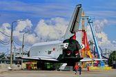 Monument BURAN spacecraft — Stock Photo