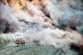 Blast in open-gegoten mijnen — Stockfoto