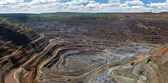 Panorama of opencast mine — Stock Photo