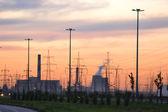 Sunset, suburbs of St.Petersburg. — Stock Photo