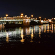 Night view of Palace Bridge — Stock Photo
