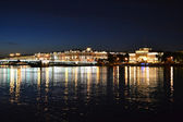 Night view of the St Petersburg — Stock Photo