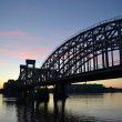 Finland Railway bridge at dawn - Stock Photo