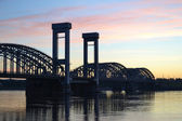 Finland Railway bridge at dawn — Stock Photo