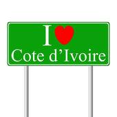 I love Cote d — Stock Vector