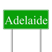 Adelaide green road sign — Stock Vector