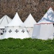 Medieval knights Tents — Stock Photo