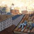 Stock Photo: Street graffiti mural in Vyborg, Russia