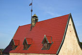 Roof of old home in Vyborg — Stock Photo