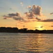 Neva river at sunset, St.Petersburg — ストック写真
