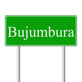 Bujumbura green road sign — Stock Vector