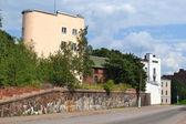Mostra di vecchia parte di vyborg — Foto Stock