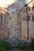Street graffiti mural in Vyborg, Russia — Stock Photo