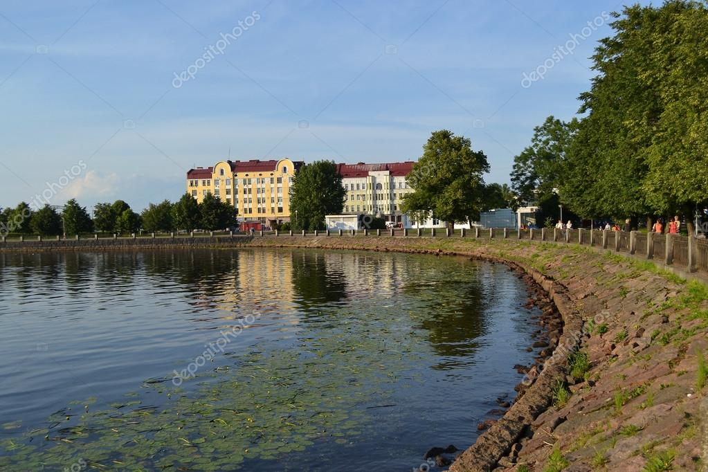 View of central part of Vyborg, Russia  Stock Photo #13712360