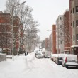 Street in Kotka at winter - Stock Photo