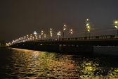 Ponte iluminada em riga — Foto Stock