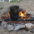 Pan on a fire — Stock Photo #17982137