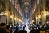 Notre Dame Cathedral inside — Stock Photo