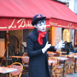 Mime on the streets of Paris. — Stock Photo