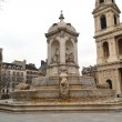 Fountain at Saint Sulpice — Stock Photo