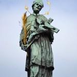 Statue of St. John of Nepomuk — Stock Photo
