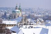 Prague at winter — Stock Photo