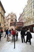 Rua no centro de praga — Foto Stock