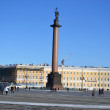 Alexander Column on Palace Square - 图库照片