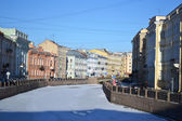 View of Moika river at winter — Stock Photo
