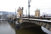 Old bridge in the center of Prague — Stock Photo