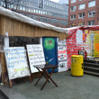 Occupy Hamburg camp — Foto Stock