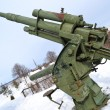 Old antiaircraft gun of the Second World War - Stock Photo