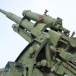 Old antiaircraft gun of the Second World War - Stockfoto