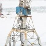 Harbour crane — Stock Photo