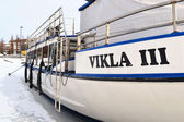Yacht in Kotka at winter — Stock Photo