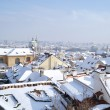 Prague at winter - Stock Photo