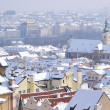 Prague at winter — Stock Photo
