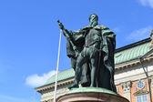 Pomnik w centrum Sztokholmu — Zdjęcie stockowe