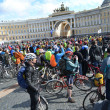 Finish cycling on Palace Square of St.Petersburg — Stock Photo #24401609