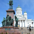 Statue of Russiczar Alexander II, Helsinki — Stock Photo #24433445