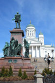 Statue of Russian czar Alexander II, Helsinki — Stock Photo