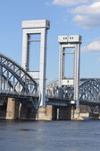 Finland Railway bridge at sunny day — Stock Photo