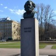 Statue of Karl Marx in St.Petersburg — Stock Photo