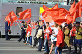 Communist demonstration on the Day of Victory — Stock Photo
