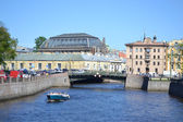 River channel in St.Petersburg — Stock Photo