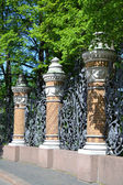 Decorative cast-iron fence — Stock Photo
