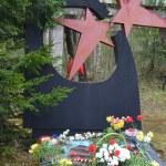 War memorial in Leningrad Oblast — Stock Photo #25850131